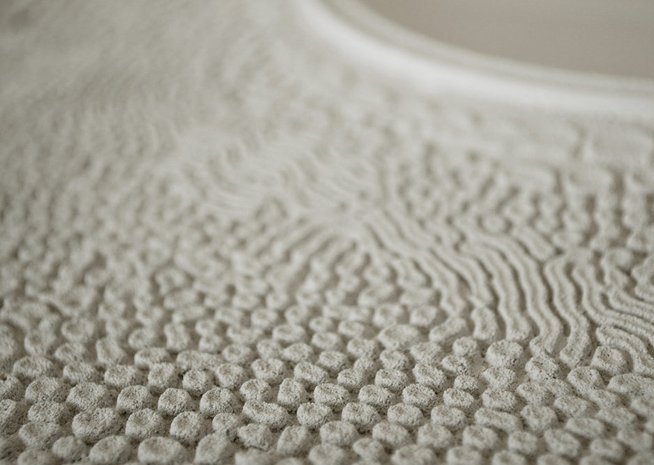 Meso Scale  Design- Detail of probiotic surface.