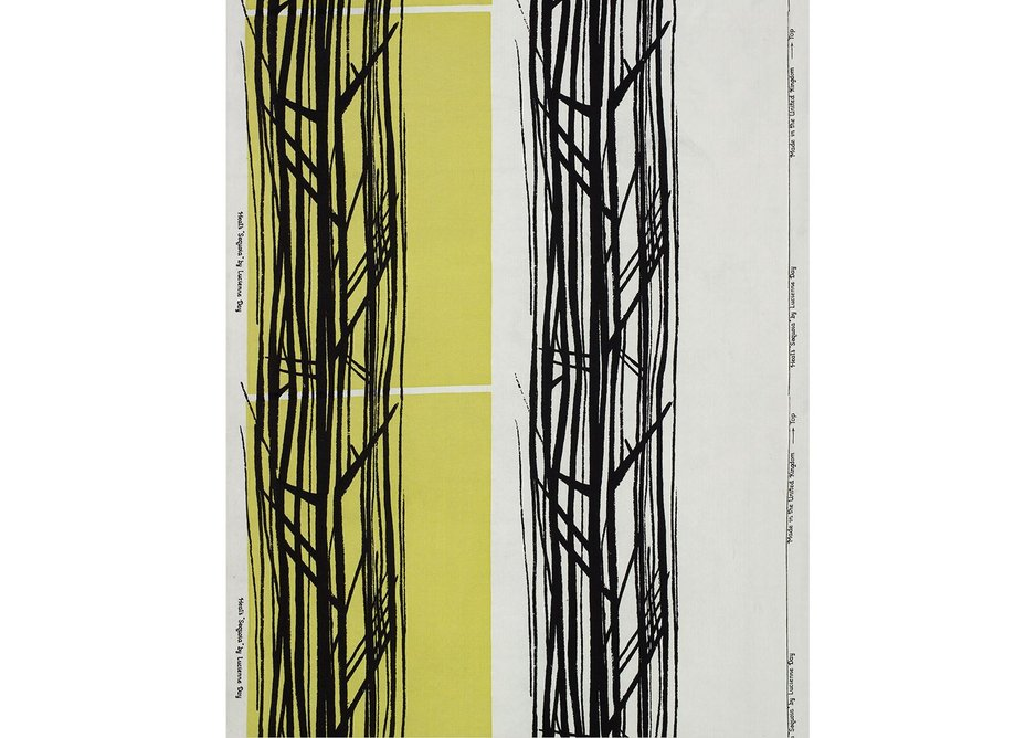 Sequoia furnishing fabric, Lucienne Day, Heal's, 1959. Copyright the Robin & Lucienne Day Foundation.