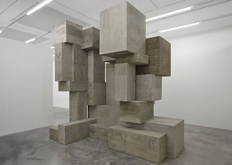 Fit exhibition installation, South Galleries, White Cube Bermondsey, with BLOCK in the foreground.
