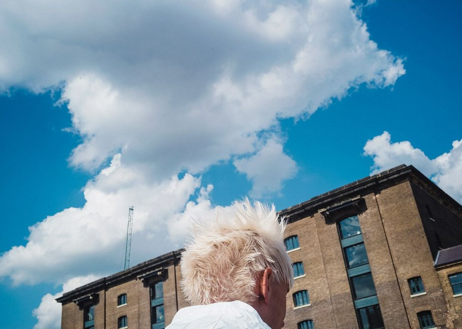 Thinking space: a Central St Martins student heads for the Granary Building by Lewis Cubitt, refurbished by Stanton Williams.