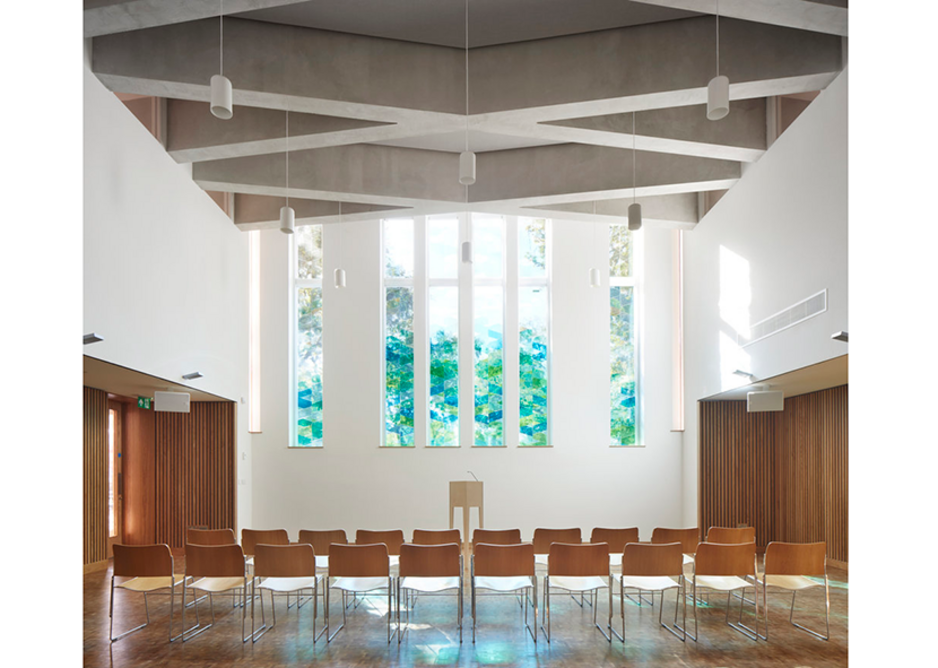 Bethnal Green Mission Church in East London, designed as part of a mixed-use development by Gatti Routh Rhodes.