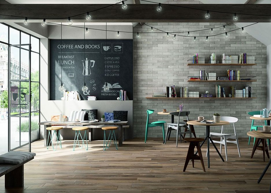 Boardwalk Interior 10mm porcelain tiles are available in three shades in a 150mm x 900mm plank format.