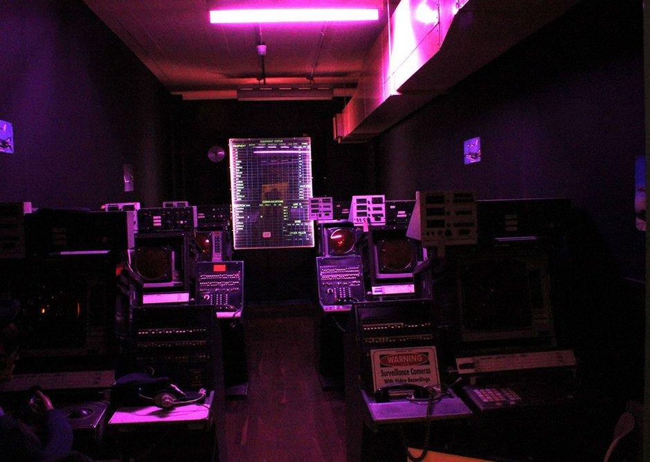 RADAR room at Scotland's Secret Bunker, Troywood, Fife.