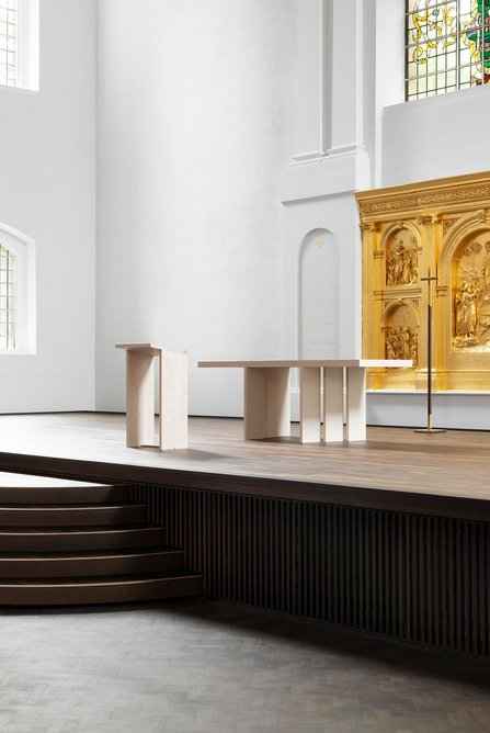 John Pawson's super simplified altar in pale ash.