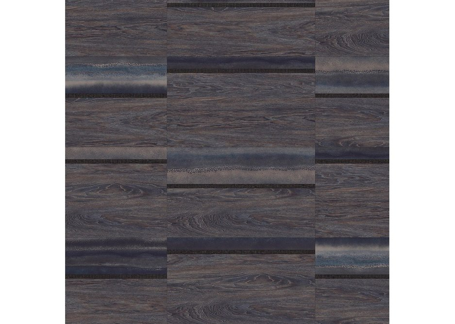 Water: Varied Block laying pattern with Chroma Blue, Galleon Oak and Cirrus Twilight.