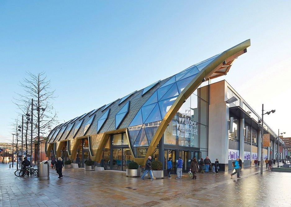 The Moor Market, Sheffield. Leslie Jones Architecture / B&K Structures.