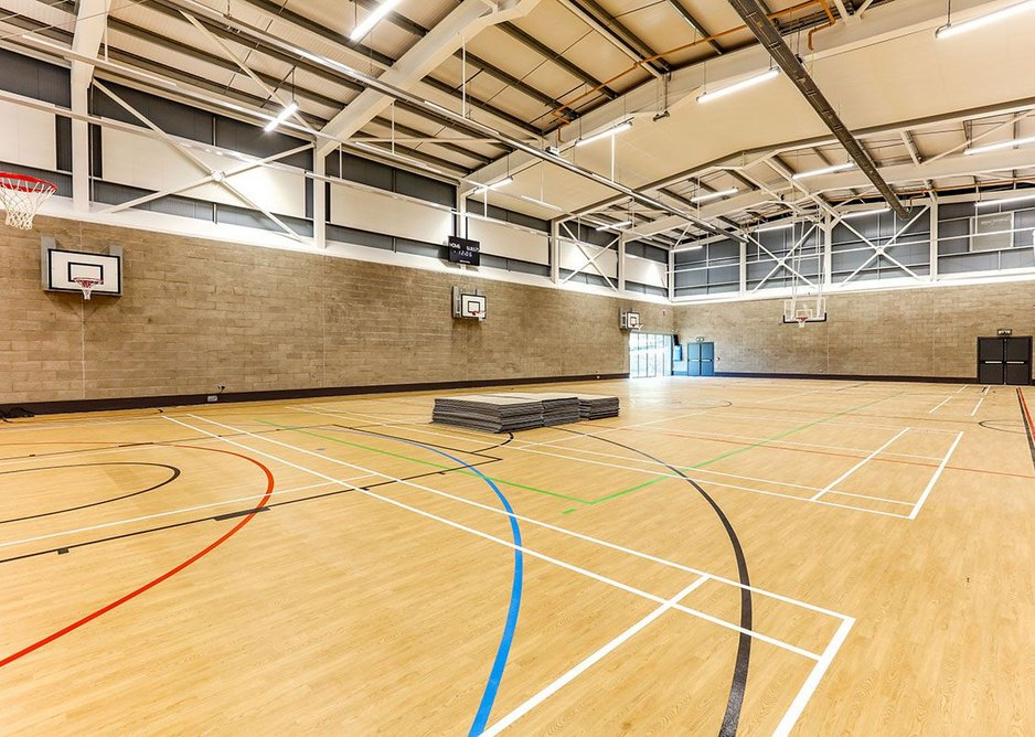 Gerflor Taraflex sports flooring is available with the Dry-Tex System for projects with damp sub floors.
