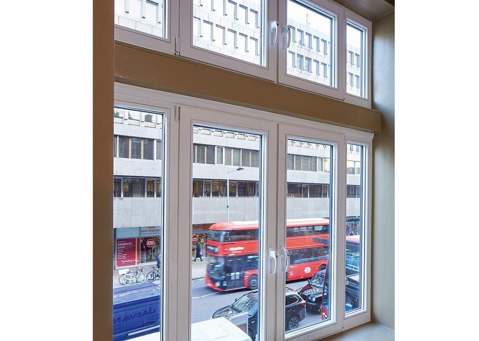 High Performance window in Room 109 of the Radisson Blu Edwardian Grafton Hotel, Tottenham Court Road.