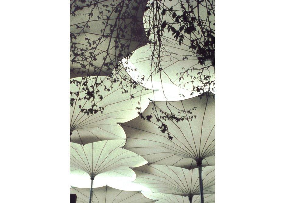 Frei Otto's umbrellas for Pink Floyd's 1977 concert tour.