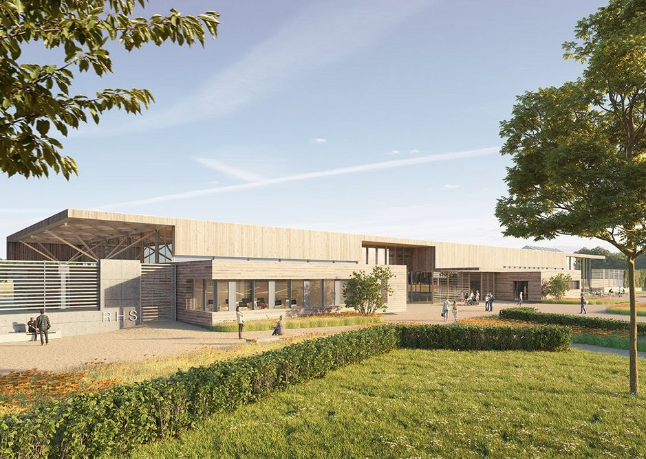 Hodder + Partners' visitor centre for RHS Bridgewater, Salford.