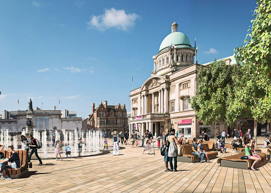 Plans for the central square help make it a more attractive public space.