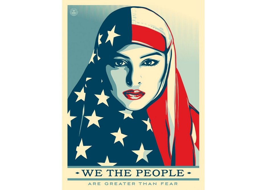 We the People, Shepard Fairey/obeygiant.com and Ridwan Adhami, 2017. Offset poster, The Amplifier Foundation.