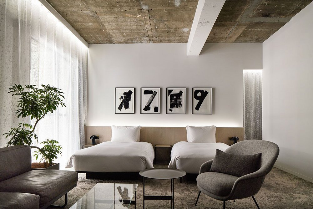 Monochrome artworks by British artist Ryan Gander in the Heritage Tower Executive Room