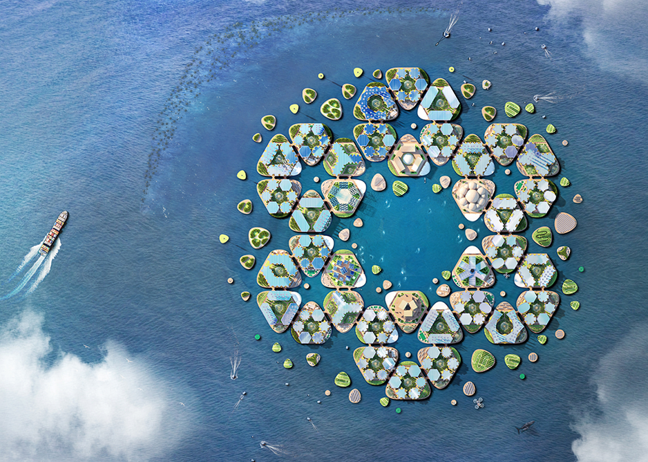 Oceanix City, a concept for a floating community by BIG – Bjarke Ingels Group.