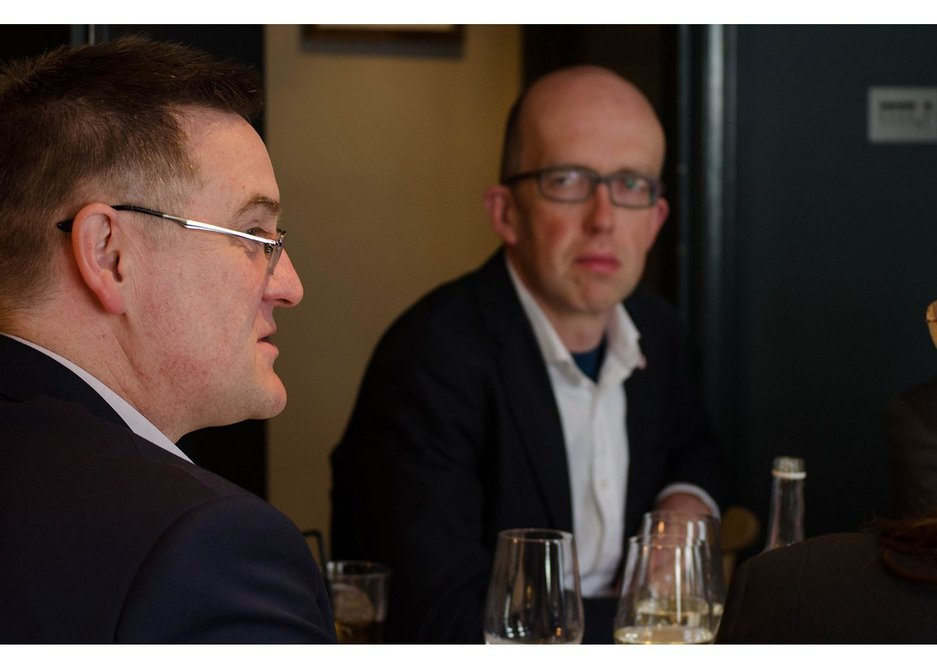 Nick Milestone, managing director at B & K Structures (left) and Tim Lucas, partner at Price & Myers.