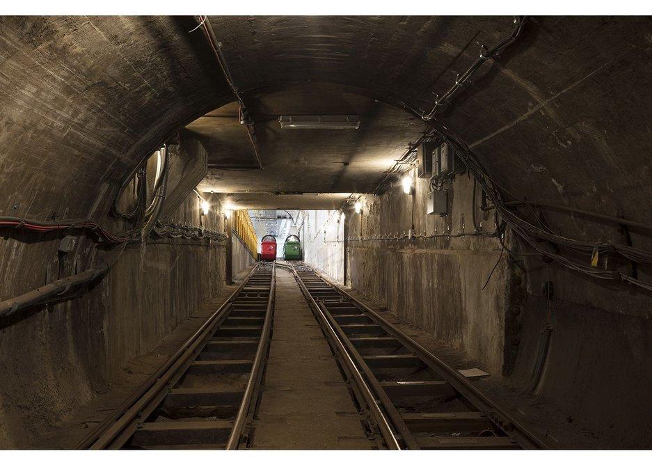 Mail Rail tunnels.