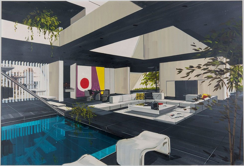Robert Bray, Design for a Playboy Duplex Penthouse, Featured in Playboy Magazine, January 1970.