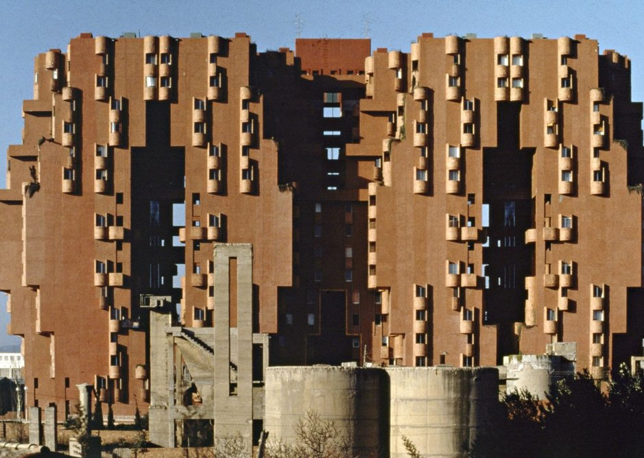 Walden 7, 1975, near Taller de Arquitectura's office in Barcelona, has 14 storeys of social housing clustered around five courtyards. 'Pure housing, where people actually live, can also be a celebration of form in the same way monuments are revered,' says Bofill.