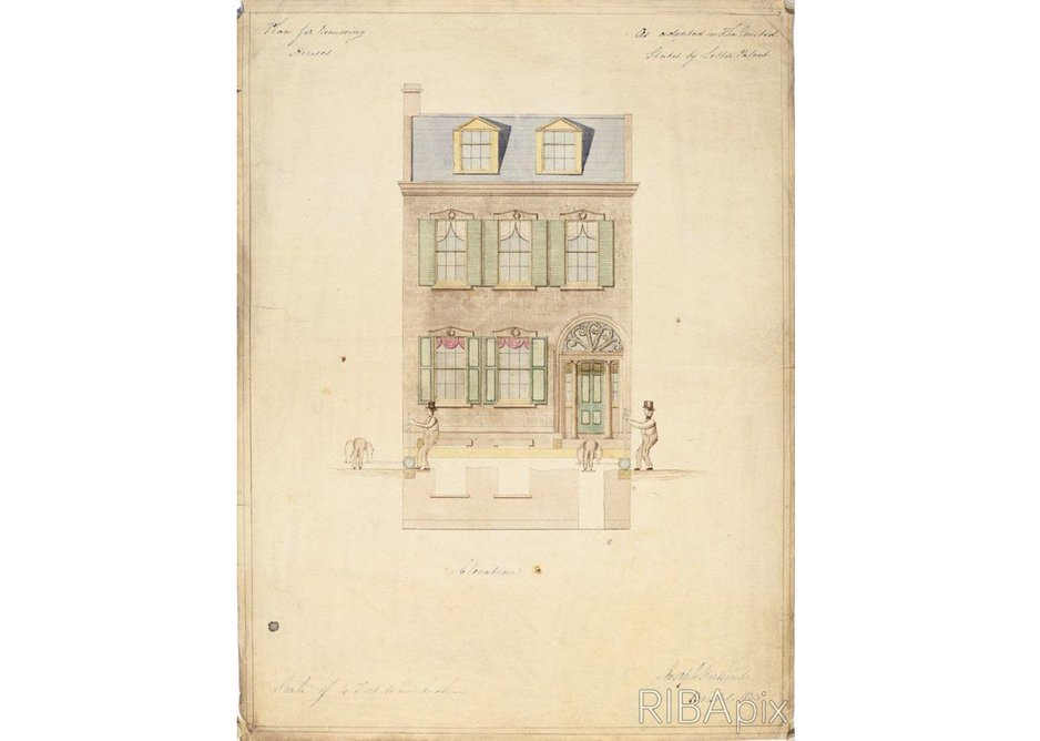 Design for a device for moving house Joseph Hartland, 1833. Copyright and courtesy: RIBA Drawings Collection.