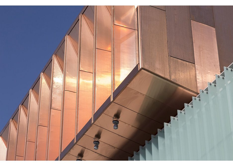 A gleaming lantern looking over the city of Chester. Chester Storyhouse, Bennetts Associates.