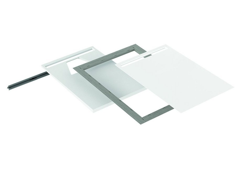 NexSys is a 4-in-1, floor-level shower system consisting of waste channel, sloping support, sealing and enamelled surface.