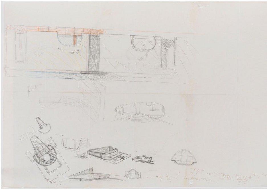 Carlo Scarpa, studies for a theatre, 1970.