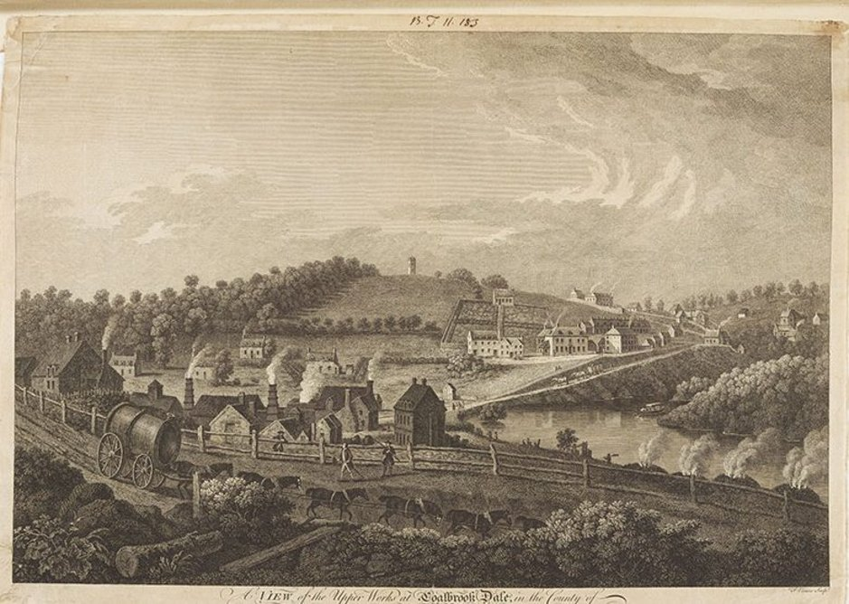 Coalbrookdale 1758, as commissioned by the local ironworks. Bodleian Library, University of Oxford.