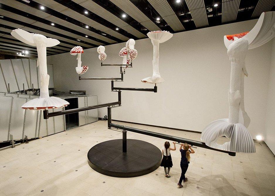 Rotating Flying Mushrooms