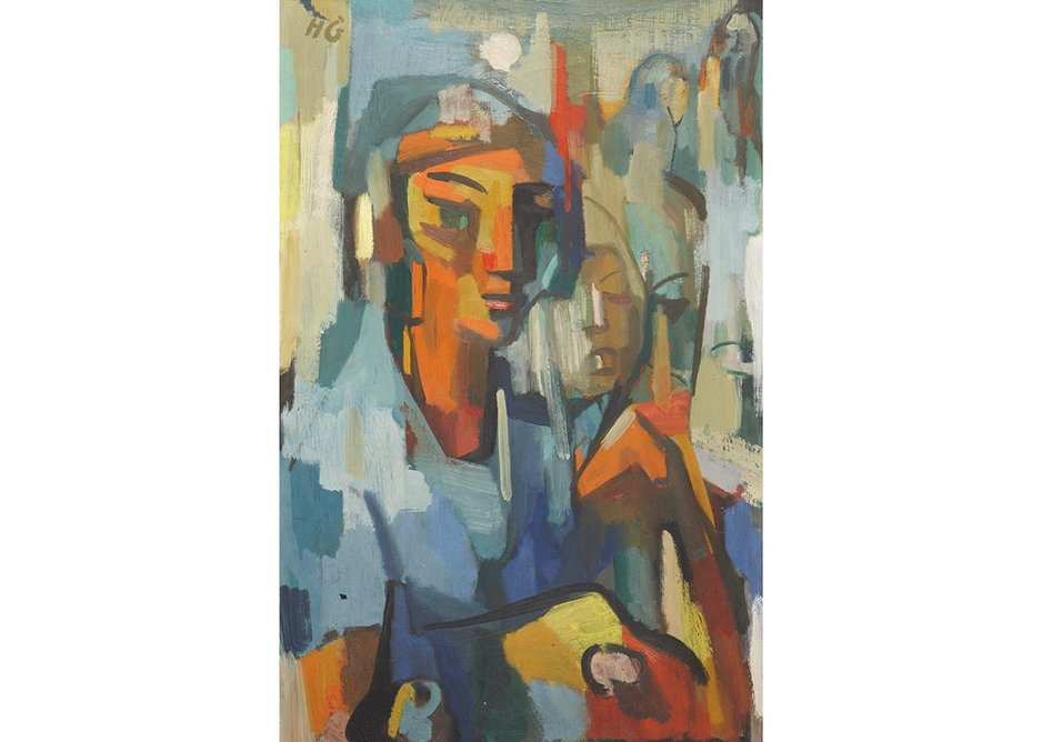 Hilde Goldschmidt, Self-Portrait, 1952, oil on canvas. Lakeland Arts Trust.  From Refuge: The Art of Belonging, Abbot Hall Art Gallery, Kendal, Cumbria, part of the Insiders/Outsiders festival