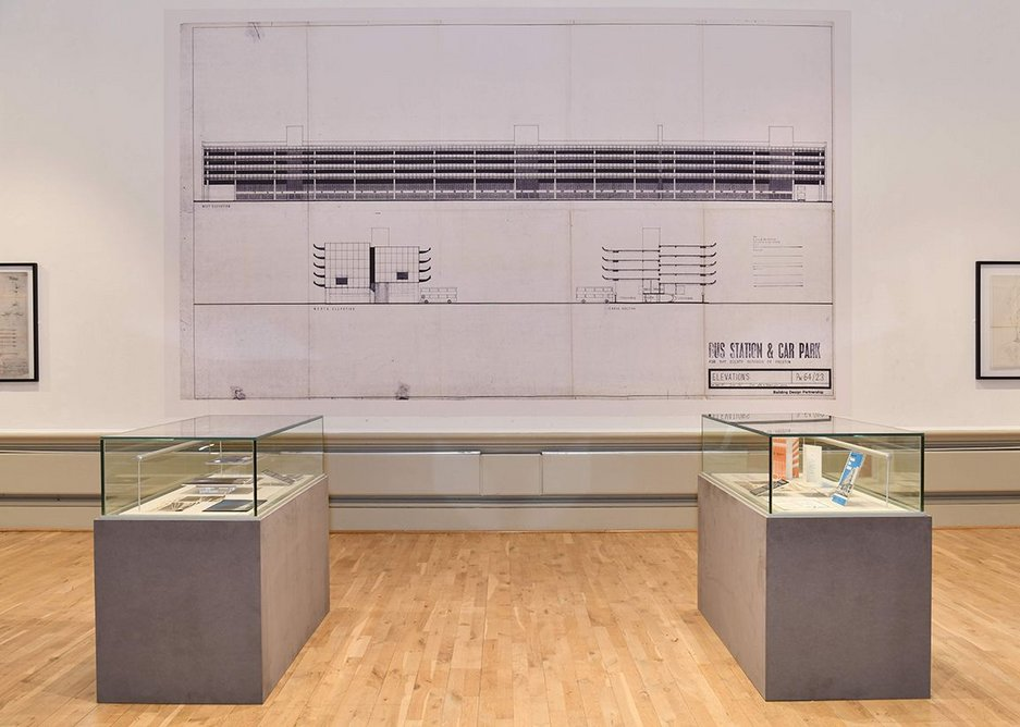 Exhibition installation showing BDP's design for Preston Bus Station.