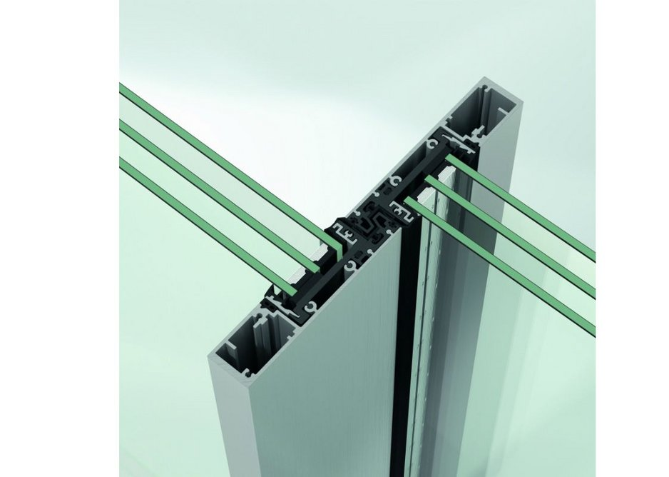 A 31mm central mullion can accommodate glass widths of 36mm to 49.6mm.