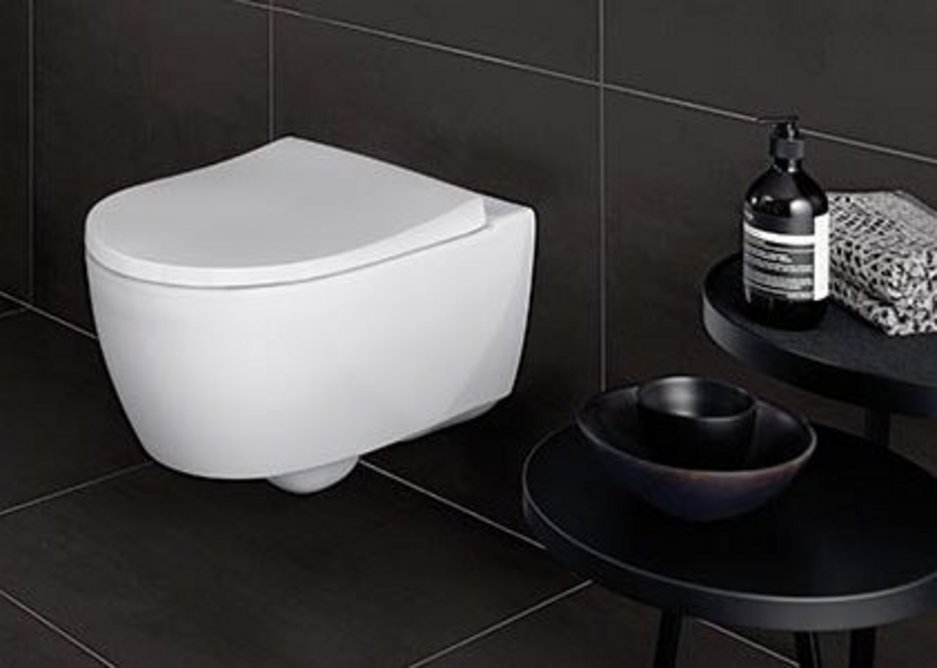 Geberit's iCon series features reduced depth washbasins and clever solutions for corners, such as short projection WC pans.