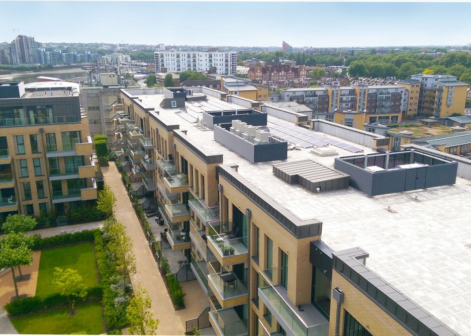 View of the development at Fulham Wharf
