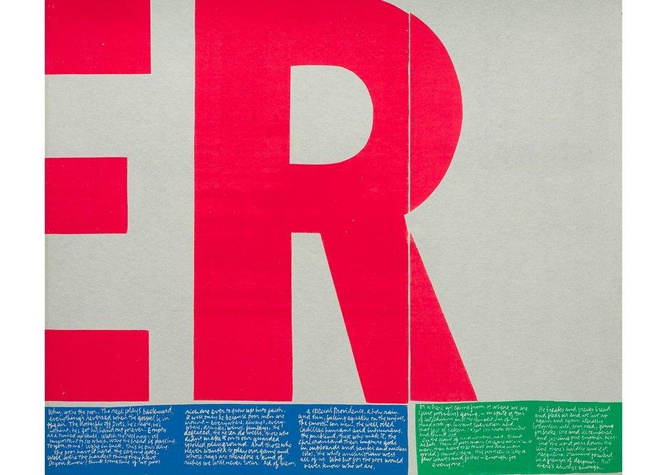 POWER UP, Corita Kent, 1965. Print, serigraph, Corita Art Center, Los Angeles.