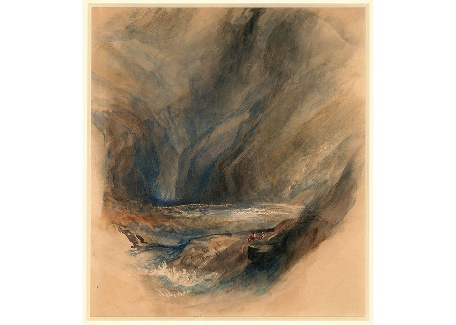 John Ruskin after J.M.W.Turner, Detail from the Pass to St Gotthard, 1855, Colelction of the Guild of St George / Museums Sheffield.