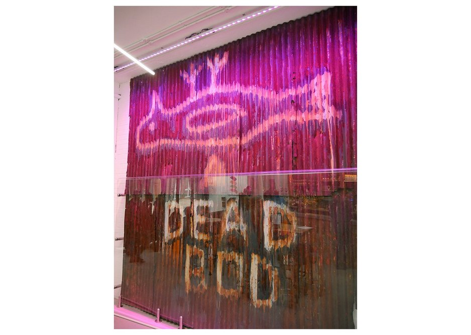 Dead Bod - much loved grafitto is finally brought indoors at Humber Street Gallery.