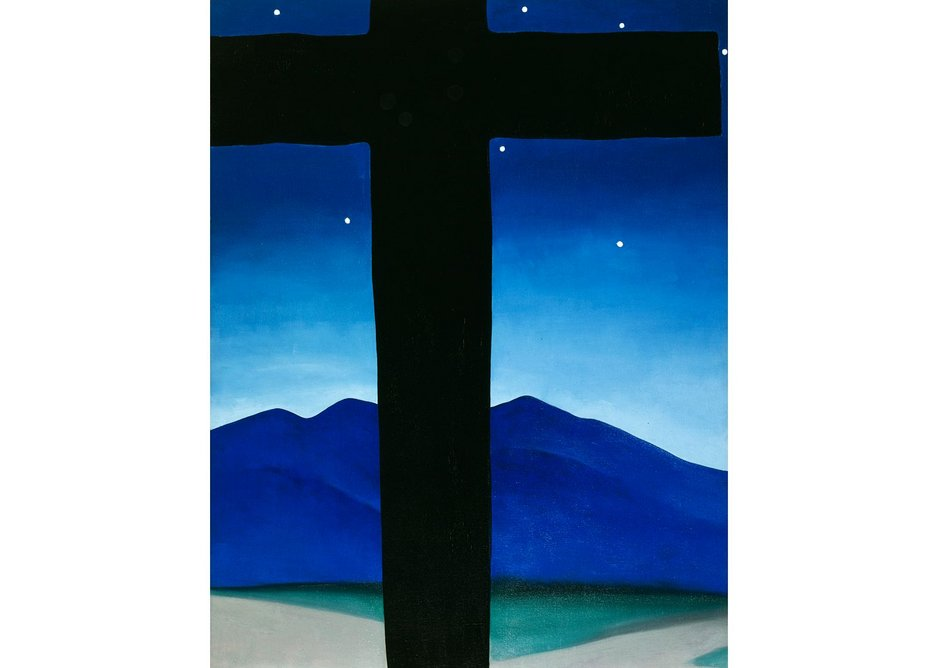 Black Cross with Stars and Blue by Georgia O'Keeffe, 1929. Private collection.