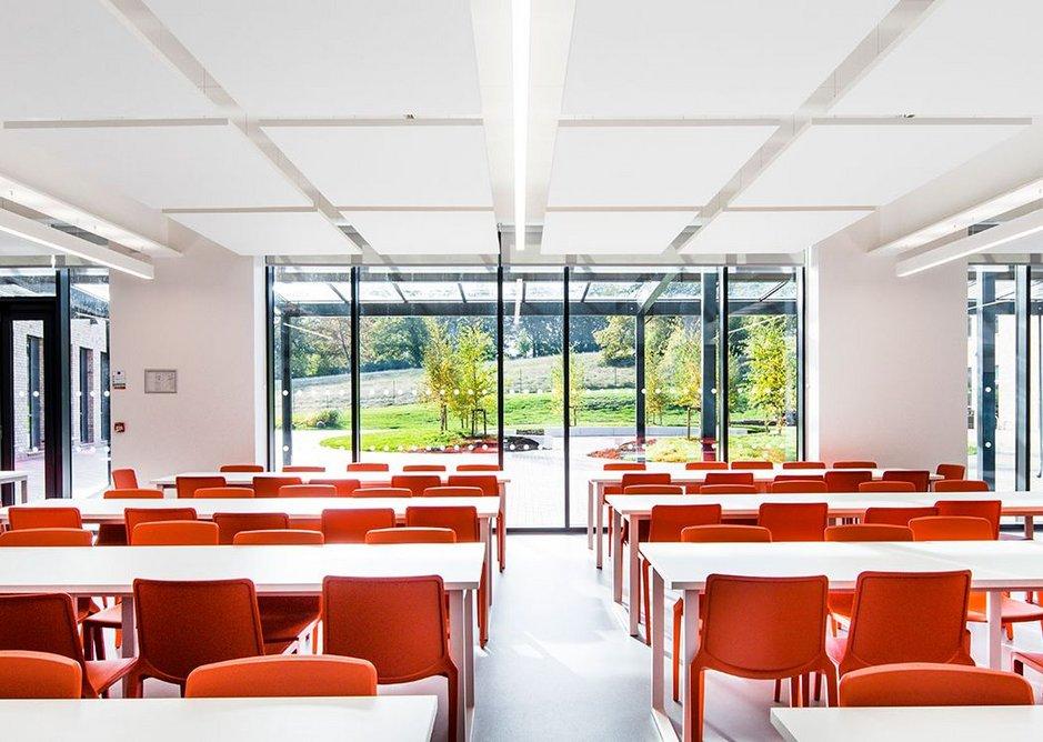 Well daylit and energy efficient. Mercia School, Sheffield, Bond Bryan Architects, RIBA Regional Award 2019.