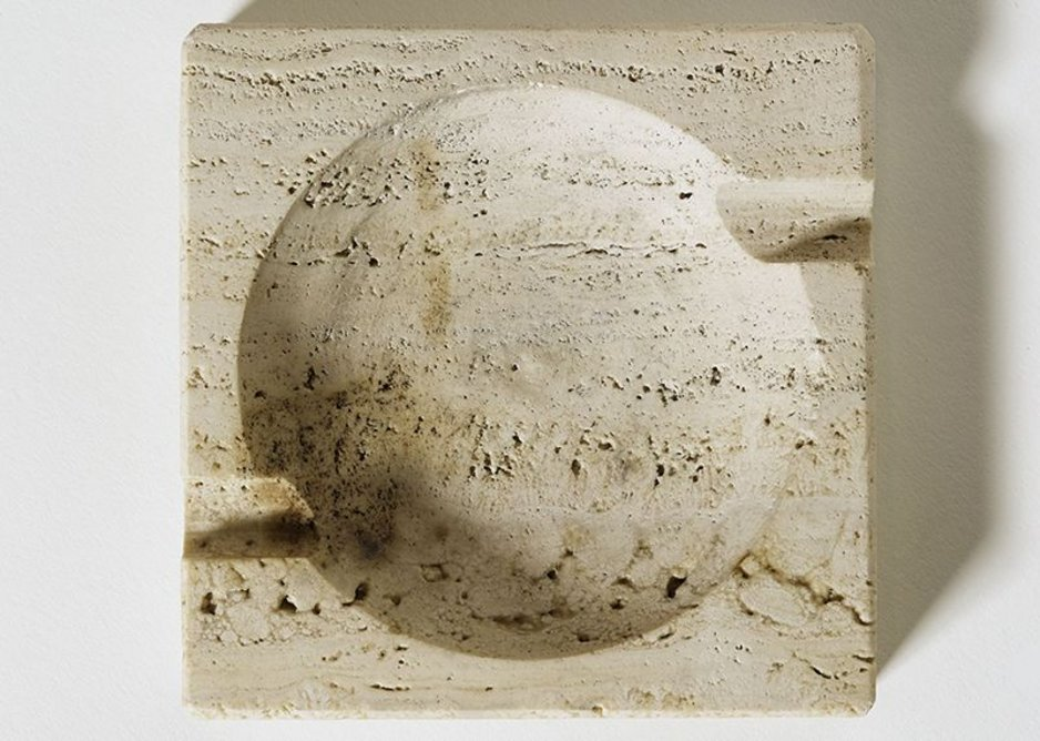 Travertine ashtray designed by Mies for Mansions House Square