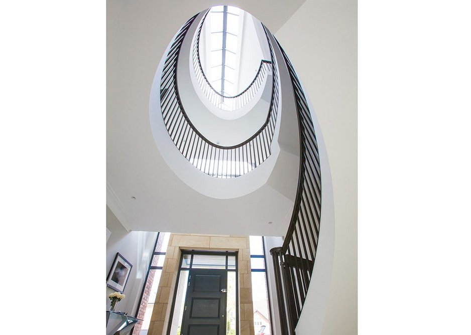 Oval staircase designed by Tsiantar Architects.