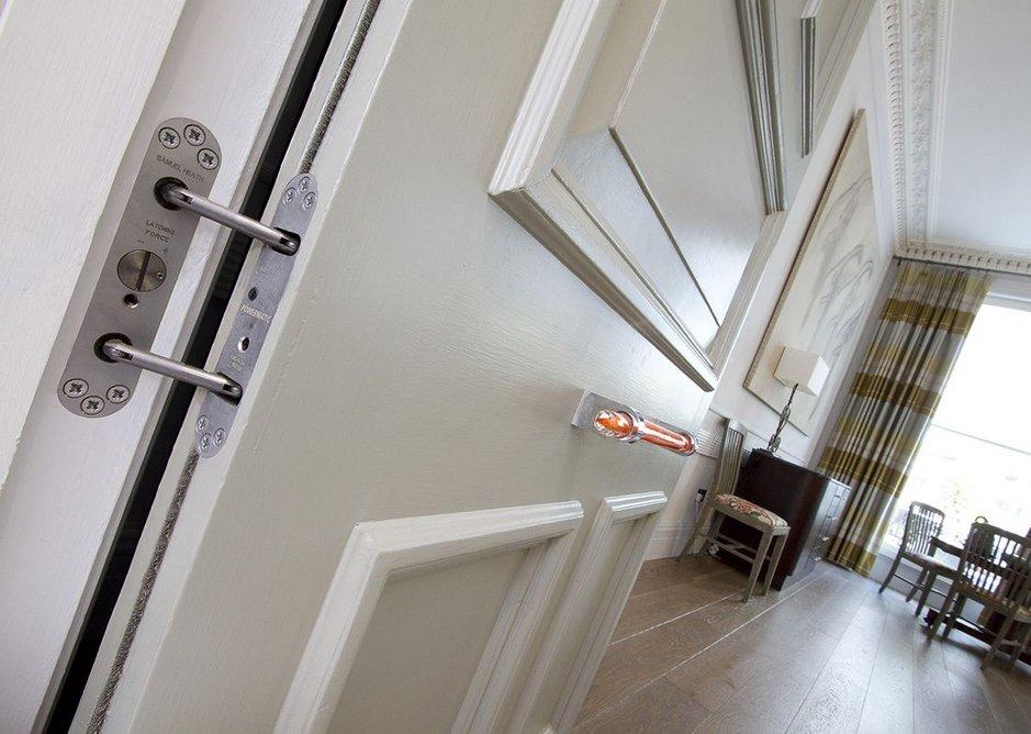 Samuel Heath Powermatic door closers installed at Browns Hotel, London.