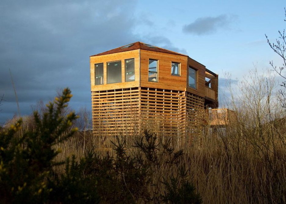 Cors Dyfi nature reserve, Powys by White Design architects.