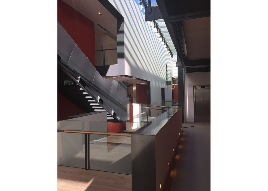 Dunfermline Carnegie Library & Galleries internal street, Richard Murphy Architects.