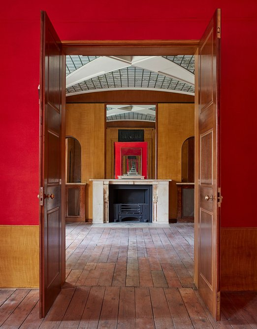 Enfilade by mirror at Pitzhanger Manor in Ealing, restored by Julian Harrap Architects in collaboration with Jestico + Whiles.  Photo: Julian Harrap Architects