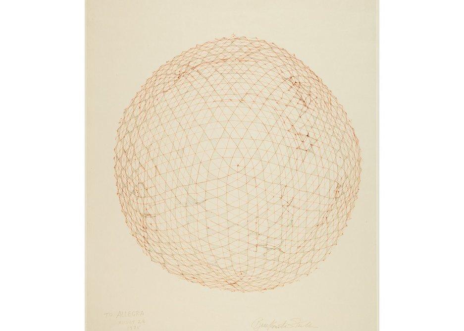 R. Buckminster Fuller, Study drawing for a Geodesic Sphere, 1975.