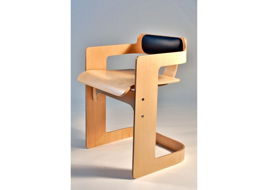Student designer - the One-sheet dining chair b Terry Davies of Rycotewood Furniture Centre uses just one sheet of Finnish Birch ply.