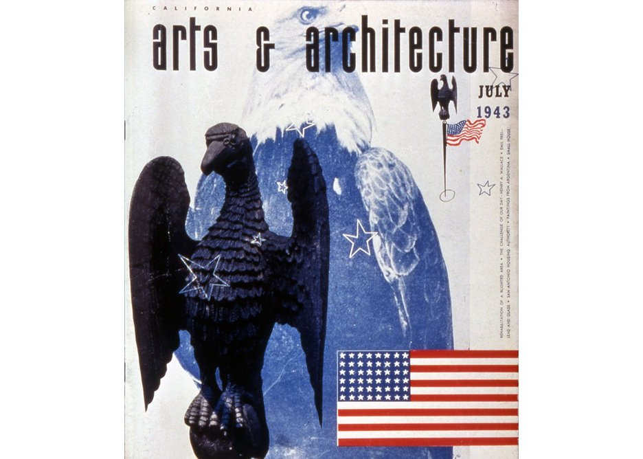 Cover of Arts & Architecture, July 1943, designed by Ray Eames .