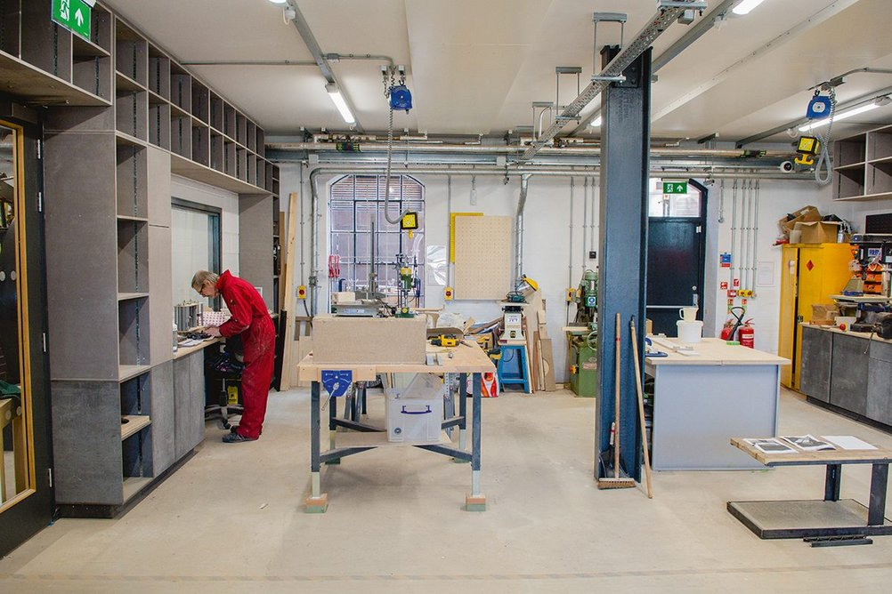 Well-equipped workshops keep the area's industrial skills alive.