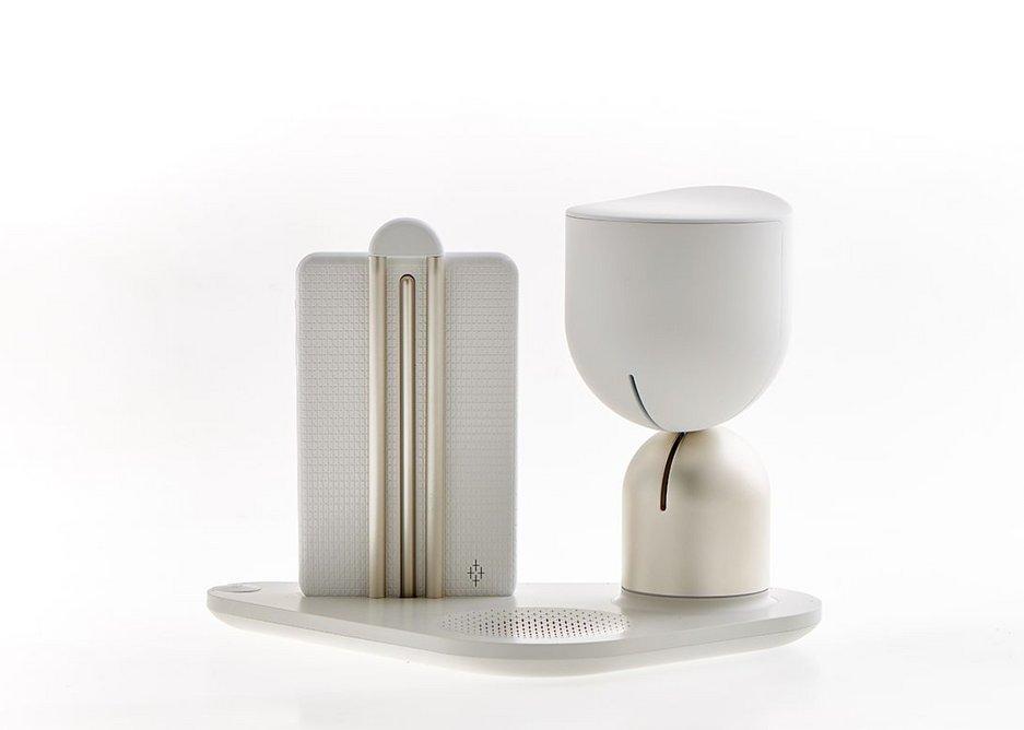 ElliQ robot companion, designed by Fuseproject and Intuition Robotics.