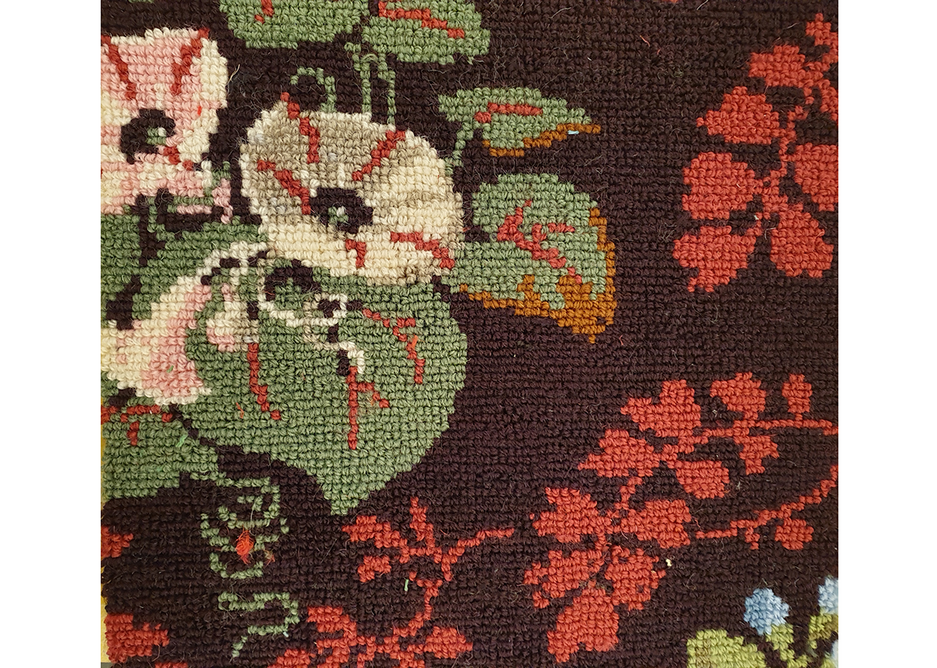 Carpet was recreating using from samples preserved serendipitously in Victorian dollshouses